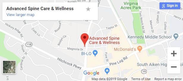 Map of Aiken Chiropractors